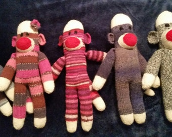 Hand Knitted Sock Monkey