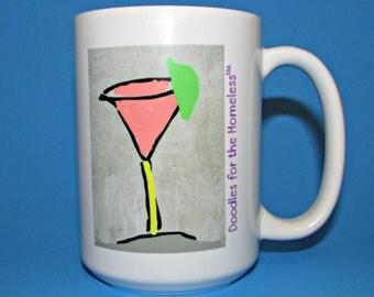 "Doodles for the Homeless ""COSMO"" Mug (15 oz)"