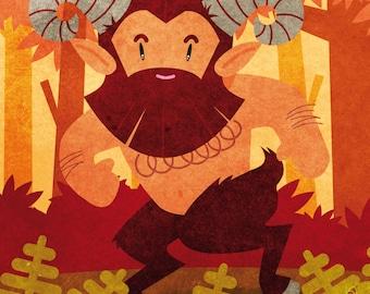 Asturian Mythology - Busgosu print