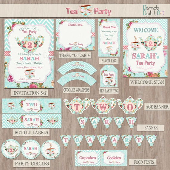 Tea Party Birthday For Two Package