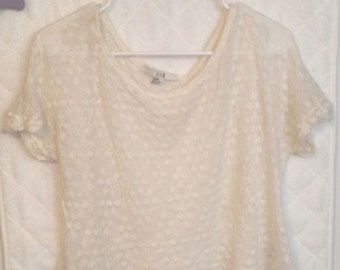 Cream Knit Top