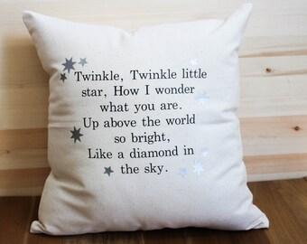 Twinkle Twinkle Little Star Nursery Pillow