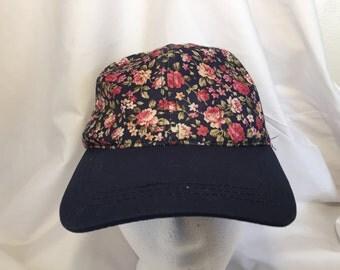 Allover Print Floral Hat