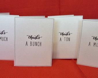 Simple, Minimalist Thank You Cards