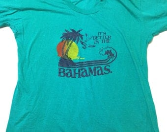 Vintage It's Better in the Bahamas T-Shirt Island Summer Vacation