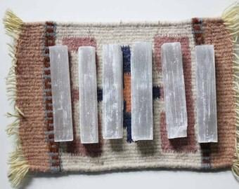 ONE 4 inch Selenite Stick | Raw Selenite Wand | Rough Selenite Wand | 4 inch Selenite Wand | Raw Selenite Gypsum | Healing | Boho Decor