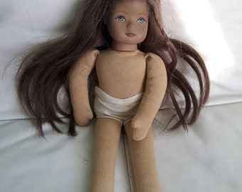 Heidi Ott 74-2-1574 Natural Hair Hand Painted Face Doll