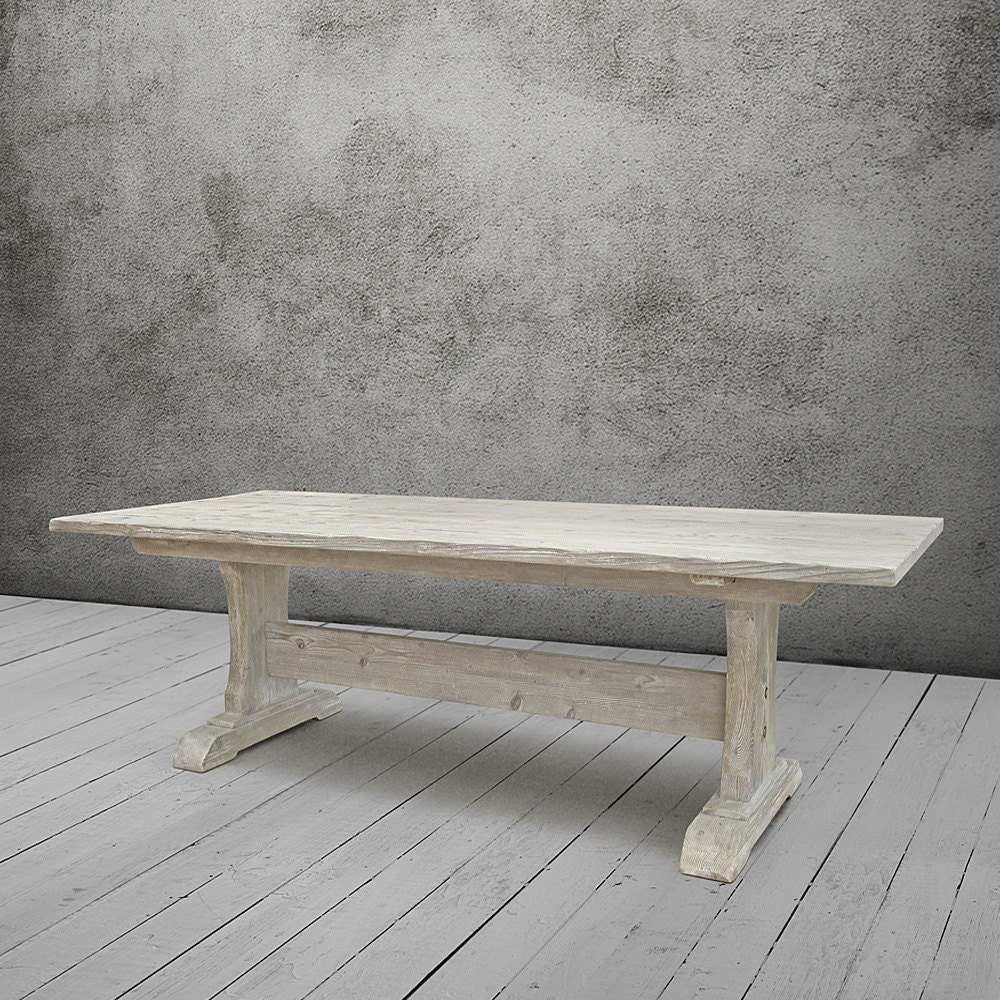 100 Trestle Dining Table Reclaimed Wood Simple