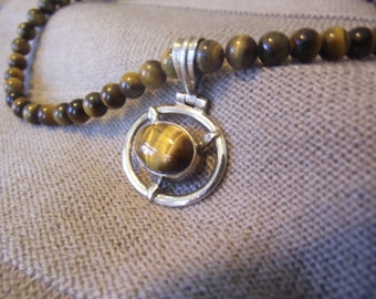 Tigers Eye Necklace 20 inches