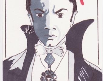 "Dracula 6x4"" marker art"