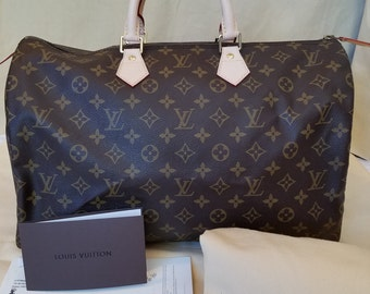 RESTORED Vintage Authentic Louis Vuitton Speedy 40 MB8909 LIKE NEW!