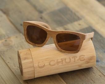 Bamboo Wooden Sunglasses - Wayfarer - Polarized Lenses