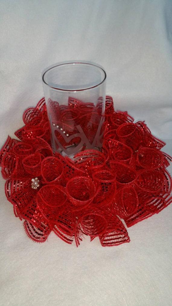 Valentine Candle Centerpiece : Valentines day candle centerpieces valentine s wikii