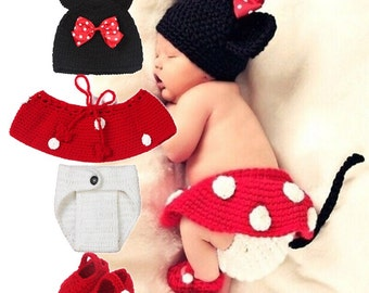 New born Minnie Mouse costume prop.