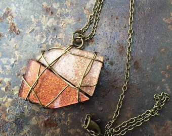 Geometric Necklace (Bronze and Rose Gold)