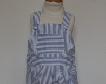 Blue striped overalls T 24 months