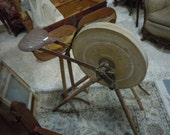 Vintage Antique Grinding Stone/Wheel with seat