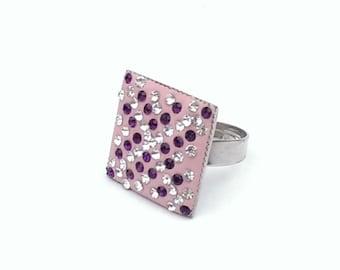 Crystal handmade ring