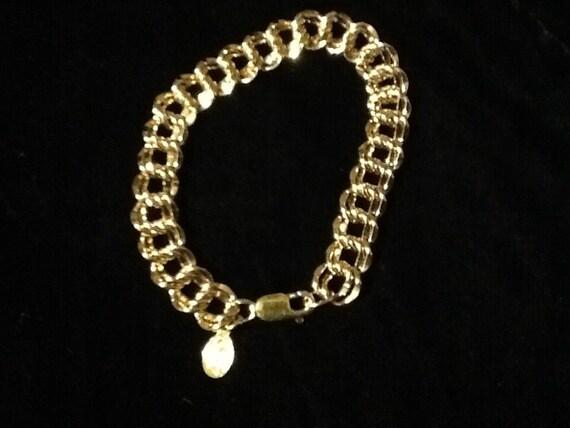 Disney Catalog Sterling Silver with Gold Vermeil, 1995 Anniversary, Charm Bracelet