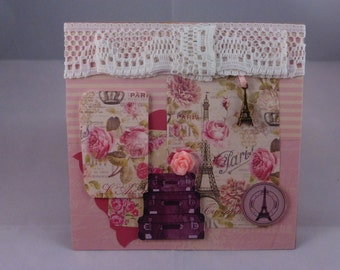 Handmade Vintage Paris Greeting Card