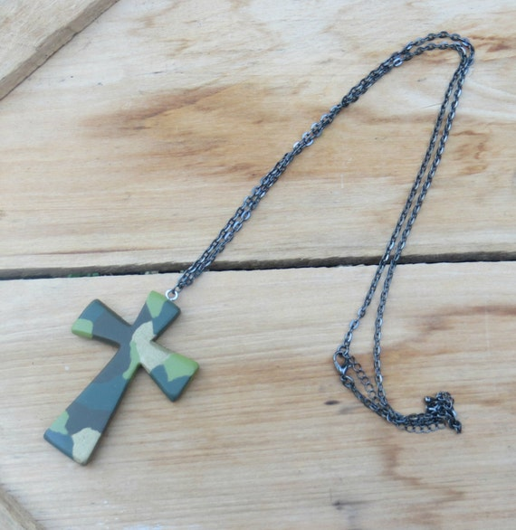 wood cross necklace wooden pendant cross necklace by