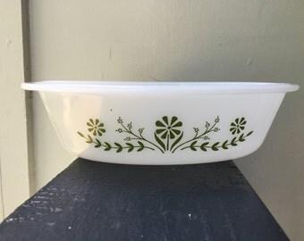 Glasbake Green Casserole Dish