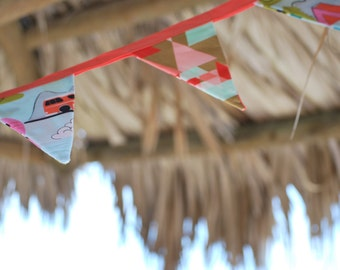 Handmade Bright and Colorful Camper Bunting Flags