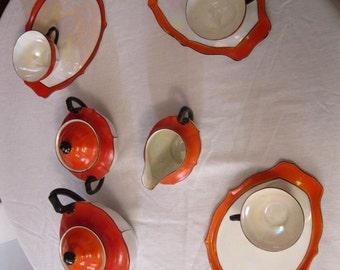 Vintage Tea Set for Four made in Czechoslovakia