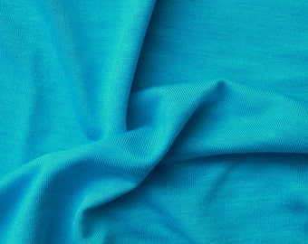 Single Jersey Natural Viscose 100% Bamboo - Turquoise