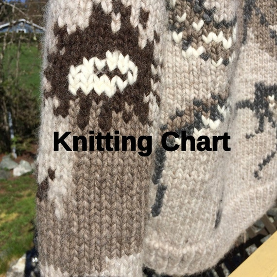 Octopus Knitting Chart : Knitting chart for salish garden octopus sweater from