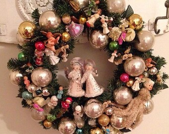 Vintage Angels Wreath