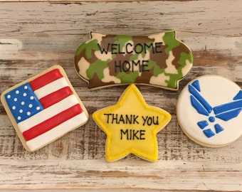 Welcome Home Deployment Cookies (1 dozen)