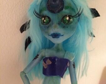 OOAK Freshwater Lagoona Monster High Doll Repaint Kappa