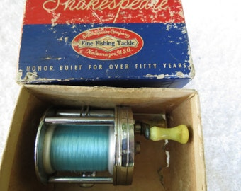 Vintage 1950's Shakespeare Wondereel Model FK Fishing Reel with Original Box