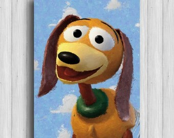 toy story poster slinky dog disney art toy story wall art