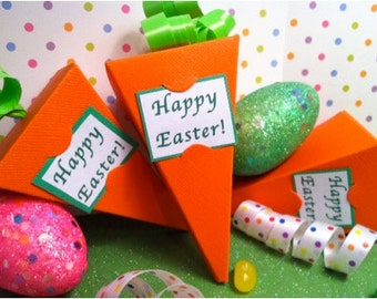 Carrot Favors! Easter Party Favors!  Set of 10! Cute Little Carrot Boxes for your Easter Treats! Holds Candy/Treats! Classroom Party Favors!