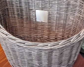 Vintage wicker cycle basket