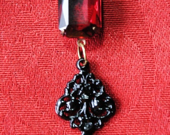 ruby red stone jewel necklace
