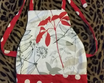 Toddler size red apron