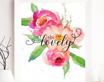 Girl Nursery, Girl Print, Girl Prints, Girl Printable, Girl Nursery Decor, Nursery Decor,