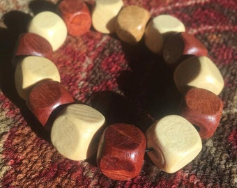 Brown & tan block bracelet.