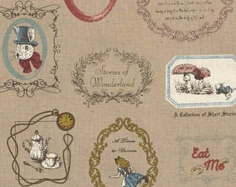 Alice in Wonderland fabric by Kokka (canvas). SK069