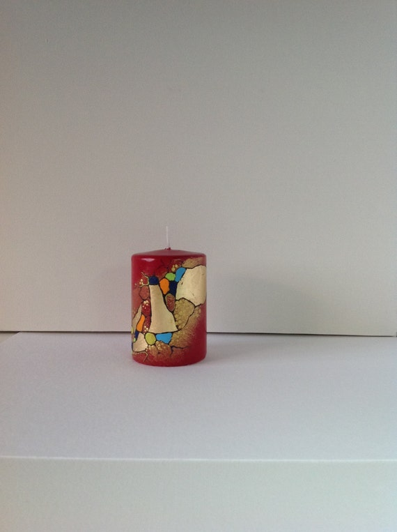 High quality hand painted wax candle professional quality for Can you paint candles with acrylic paint