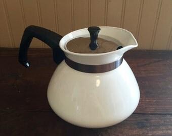 RARE Vintage Corning Ware Just Winter Tea Pot