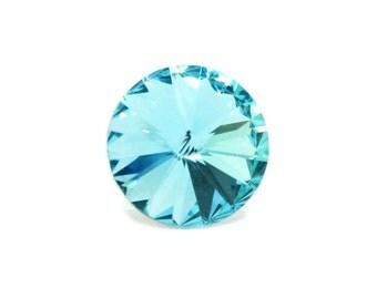 Swarovski Rivoli light turquoise 16 mm