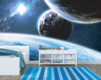 Space Photo Mural - Vinyl Wall Covering - Wall Decal - Wallpaper