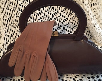 Vintage 1940's Calfskin Leather Purse