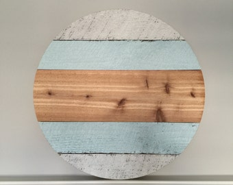 "24"" Round Wood Monogram"