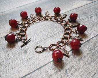 Boho Bracelet-Charm Bracelet-Beaded Bracelet-Bohemian Bracelet-Romantic Bracelet-Ethnic Bracelet-Gemstone Bracelet-Boho Bracelet