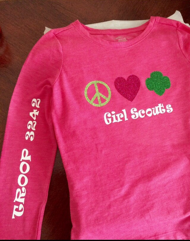 Girl scout shirt girls troop shirt by gracefulmoonboutique for Girl scout troop shirts